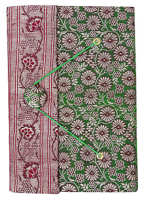 5.5 x 8 Inch Saree Cover Handmade Scrapbook Paper Medium Diary Journals-50 Pages