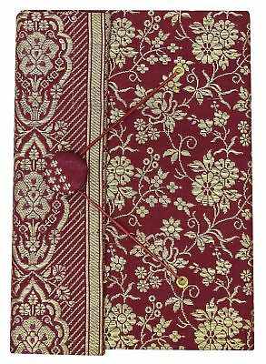5.5 x 8 Inch Medium Diary Journals Saree Cover Handmade Paper Scrapbook-50 Pages