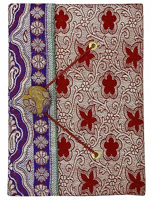 3.5 x 5 Inches Mini Diary Journals Zari Saree Cover Handmade Paper Book-50 Pages