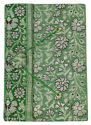 5 x 7 Inches Saree Cover Scrapbook Handmade Paper Small Diary Journals-50 Pages