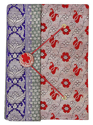 5.5 x 8 Inch Saree Cover Handmade Paper Notebook Medium Diary Journals-50 Pages