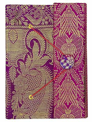 5.5 x 8 Inch Handmade Paper Medium Diary Saree Cover Notebook Journals-50 Pages