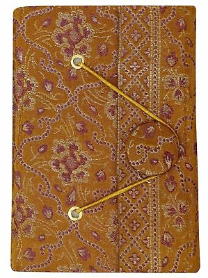 3.5 x 5 Inches Diary Journals Handmade Paper Zari Saree Cover Notebook-50 Pages