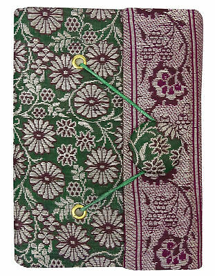 3.5 x 5 Inches Handmade Paper Saree Cover Mini Notebook Diary Journals-50 Pages