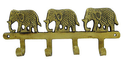 Decorative Wall Hanger Organizer Brass Wall Hook Elephant Design Key Hanger