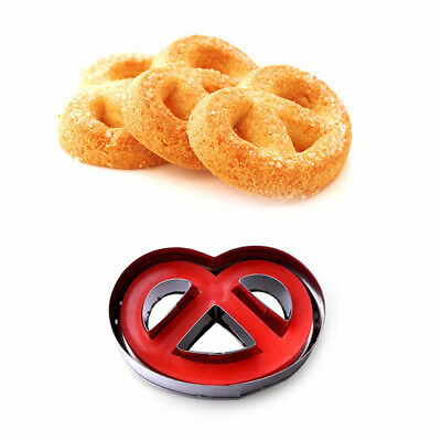 Stainless Steel Spring Press Biscuit Pastry Cookie Cutter Cake Decor Baking Mold