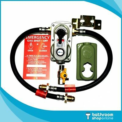 LPG Propane Gas Bottle Connector Auto Change Over Regulator Kit with Hoses