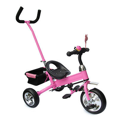 kinder dreirad kinderfahrrad fahrrad lenkstange servolenkung pink eur 64 95 picclick de. Black Bedroom Furniture Sets. Home Design Ideas