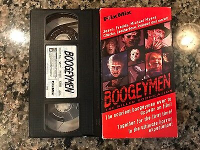 Boogeymen Vhs! 2001 Horror! (See) Childs Play Halloween Friday The 13th & Scream