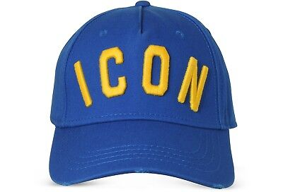 57d69f5eae99 New Dsquared Distressed Blue Special ICON Baseball Cap Dsquared2 UK Seller