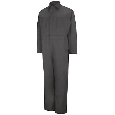 Red Kap Men's Twill Long Sleeve Work Coveralls, Charcoal