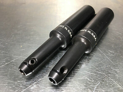 """(2) Precision Components End Mill Extension .187"""" ID x 3/4"""" x 4"""" LRM-.187-40-3"""