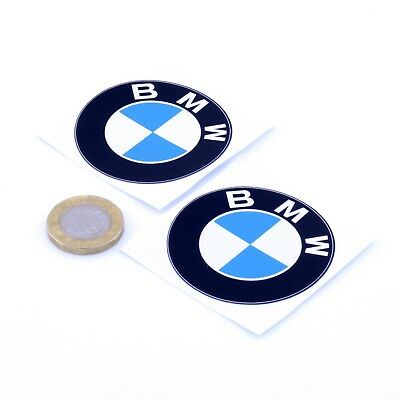 BMW Badge STICKERS Decal Vinyl Car 50mm x2 Motorcycle Race Racing Rally