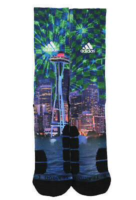 ADIDAS Climalite Traxion Impact Crew Socks sz L Large (9.5-12) Seattle Sounders