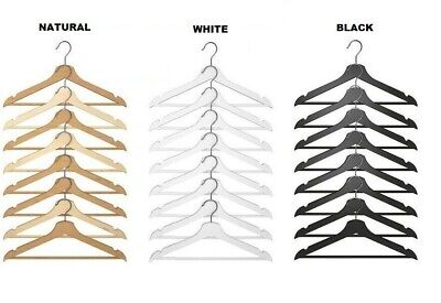 IKEA Bumerang Wooden Clothes Hangers New Wood Natural ,White brand new