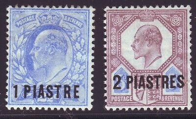 British Levant 1906 SC 13-14 MH Set