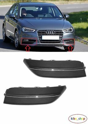 Audi A3 2012 - 2016 New Front Bumper Fog Light Lamp Cover Grilles Left + Right