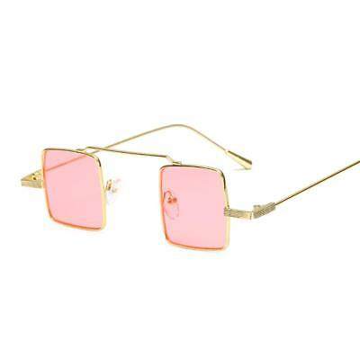 Small Square Sunglasses Retro Metal Frame Vintage Sunglasses For Women UV400