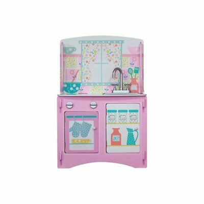 Kidsaw Childrens Wooden Pink Pastel Country Cottage Kitchen