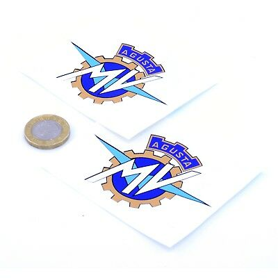 MV Agusta Badge Sticker Decal Vinyl Motorbike Motorcycle STICKERS 75mm x2