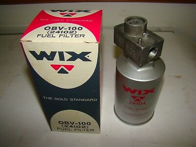 """Wix OBV-100 (24102) Fuel Filter, 3/8"""" Fitting, New"""
