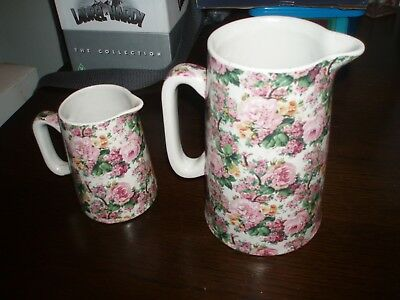 S R &Co England Jugs chintz collection