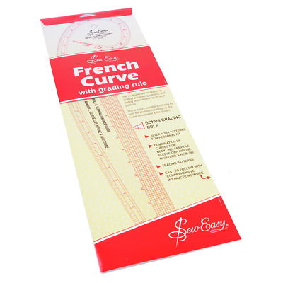 Sew Easy French Curve Imperial Ruler - With Grading Rule - FREE UK P&P