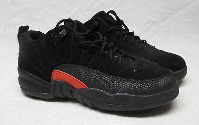 detailed look 465b4 d2459 YOUTH AIR JORDAN Retro 12 Retro The Master Black Red Size 7