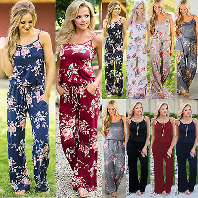 UK Plus Size Boho Womens Holiday Mini Playsuits Summer Beach Sun Dress Jumpsuit