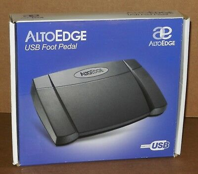 Alto Edge USB Transcription Foot Pedal use with Free version Express Scribe
