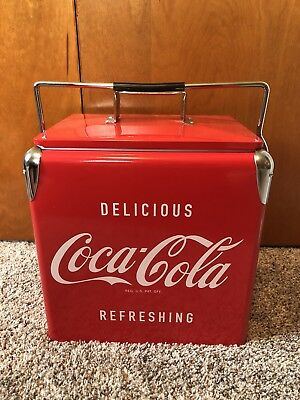 Retro Coca Cola Picnic Cooler With Bottle Opener Brand New