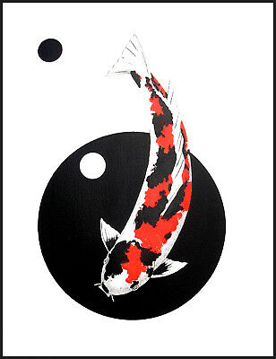Japanese Koi Showa Circles Nishikoi Prints signed Direct From Artist fish carp