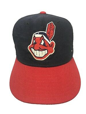 c03a537e749 Vintage Cleveland Indians New Era Pro Model MLB Fitted Hat 7 1 8 Hat Chief