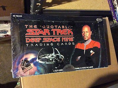 Star Trek Deep Space Nine Ds9 box factory sealed 2007 Quotable auto
