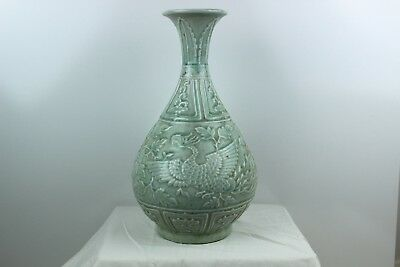 Stunning Celadon green porcelain vase Chinese Antique rare
