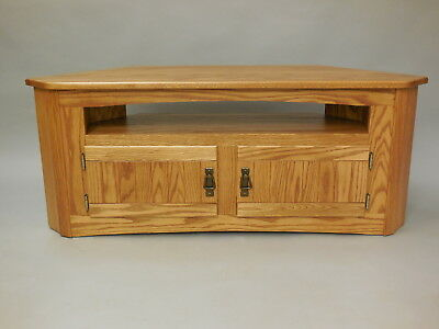 896 Solid Wood Oak Country Corner Tv Stand 750 00 Picclick
