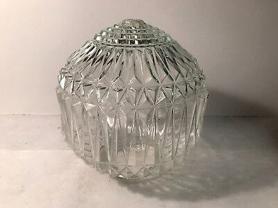 Antique large clear glass swag pendant ceiling light fixture shade globe