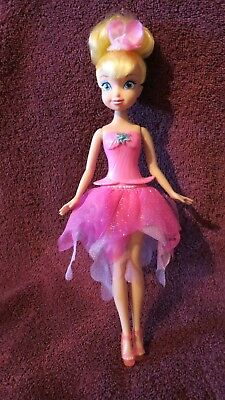 """Disney Pixie Fairies  TINKERBELL 9.5"""" Doll -Flower Changes Color"""