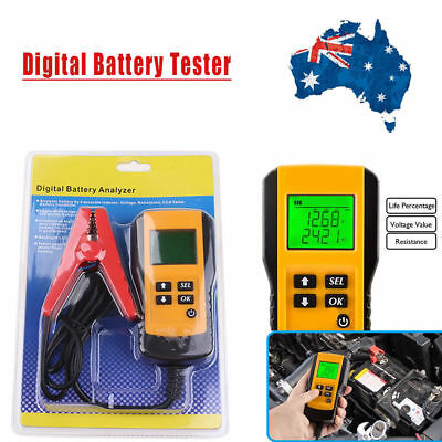 12V Car Automotive Battery Load LCD Tester Analyzer Digital Diagnostic System AU