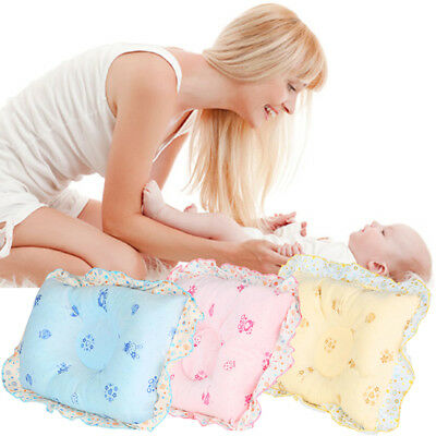 Baby Pillow Infant Newborn Anti Flat Head Syndrome for Crib Cot Bed Soft Velvet
