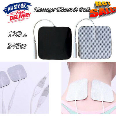 12/24Pcs TENS Machine Massager Replacement Electrode Pads Self-Adhesive 5x5cm Au