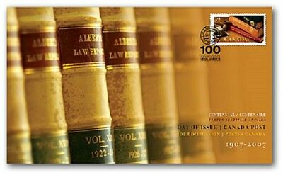 2007 Canada ~ LAW SOCIETY OF ALBERTA: 100th Ann. S# 2228; FREE SHIPPING US/Canda