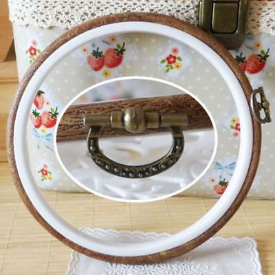 Oval Round Wooden Embroidery Cross Stitch Ring Hoop Frame Of Crafts
