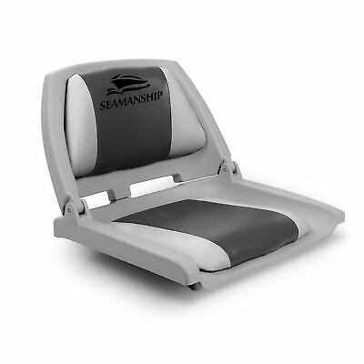 Seamanship Folding Swivel Boat Seat - Grey & Charcoal