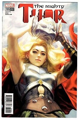 The Mighty Thor #705D Variant Stanley Artgerm Lau Cover (2018 Marvel) NM