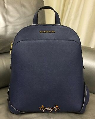 dcb819e2ce94 MICHAEL KORS EMMY Large Backpack Saffiano Leather Bag Navy - $189.95 ...