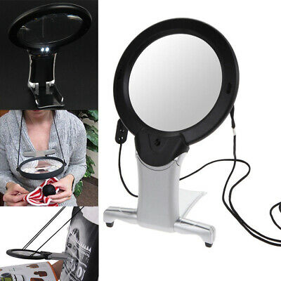 Hands Free 6X Large Magnifying Glass Light Led Lamp Giant Magnifier Reading AID
