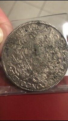 1711 netherlands utrecht shipwreck silver rider coin,corrosion both sides