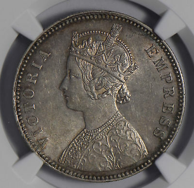 India Princely States 1882 Rupee silver NGC AU58 alwar NG0678 combine shipping