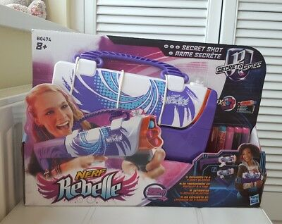 Nerf Rebelle Secret Shot Secret & Spies Toy Girls Blaster Gift birthday Purple